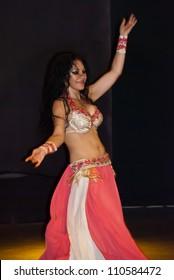 "BELDIBI, TURKEY - JUNE 11: Performers of the ""Turkish Night"" show at the Turkiz Beldibi Resort & Spa on June 11, 2012 in Beldibi, Turkey."