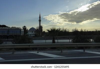 BELEK, TURKEY - JANUARY 2 2015: Belek resort area in Turkey.
