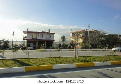 BELEK, TURKEY - JANUARY 2 2015: Belek resort area in Turkey. Turkish riviera. Asia Minor