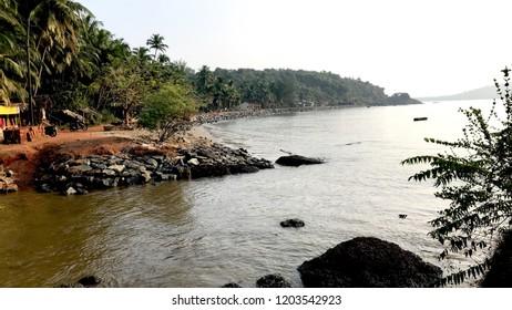 Belekan Beach located to the South of Gokarna, Karnataka , India.
