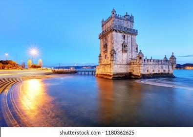 Belem tower, Lisbon - Portugal at night
