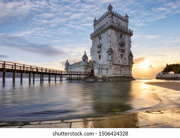 Belem tower, Lisbon, Porugal at sunset