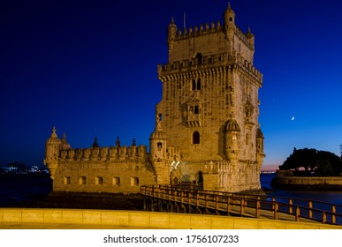 Belen, Portugal; August 5, 2016: View of the Belen's Tower at evening.