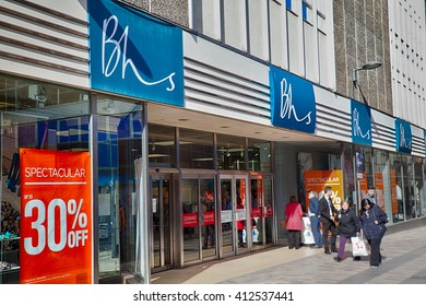 Belfast, County Antrim, Northern Ireland - Aprl 27, 2016: BHS (British Home Stores) Retail Outlet in Belfast City Centre.