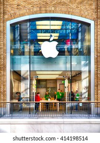 Belfast, County Antrim, Northern Ireland - Aprl 27, 2016: Apple Store in Victoria Square Shopping Centre in Belfast City Centre.