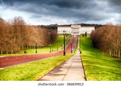 Belfast, County Down, Northern Ireland - March 04, 2016: Stormont Building, Seat of Local Government for Northern Ireland.