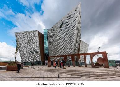 BELFAST, IRELAND - AUGUST 24: Titanic Belfast in the city's Titanic Quarter