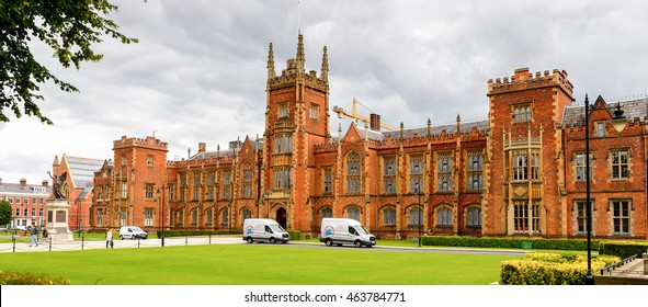 BELFAST, NI - JULY 14, 2016: The Lanyon Building of the Queen's University Belfast (QUB), a public research university in Belfast, Northern Ireland.