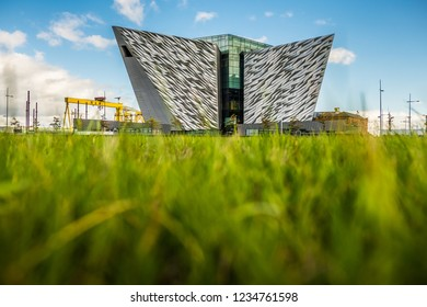 Belfast, Northern Ireland - 21.09.2018: Titanic Belfast is a famous attraction in Northern Ireland.