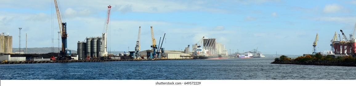 BELFAST, NORTHERN IRELAND - APRIL 24: Harland & Wolff Heavy Industries 24 April, 2017 at Belfast. Titanic was made by Harland & Wolff Heavy Industries.