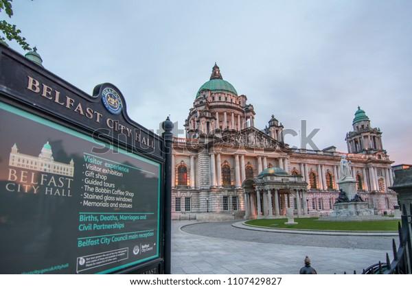 Belfast Northern Ireland May 2018 Belfast Stock Photo Edit