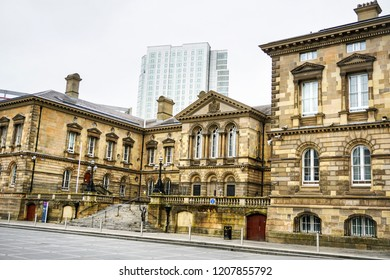 BELFAST. NORTHERN IRELAND - October 07 ,2018 :Architecture of different epochs in the same city.