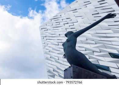 Belfast, Northern Ireland - October 4 2017: Titanic Museum Belfast