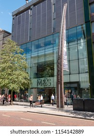 Belfast, Northern Ireland, UK - August, 8, 2018: Marks and Spencer, Donegall Place
