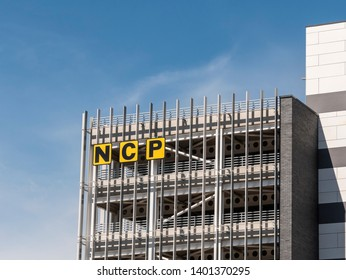 Belfast, Northern Ireland, UK - May 14, 2019: National Car Parks, City Quays. Opened in January 2019 by NCP to service the expanding City Quays area