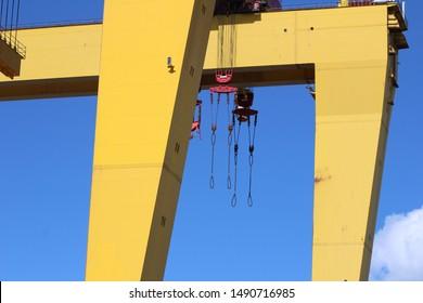 Belfast shipyard cranes Samson and goliath