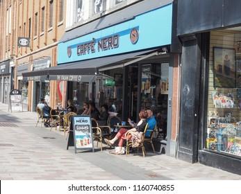 BELFAST, UK - CIRCA JUNE 2018: Caffe Nero Italian coffee bar