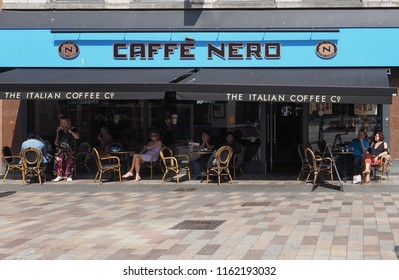 BELFAST, UK - CIRCA JUNE 2018: Caffe Nero Italian coffee bar