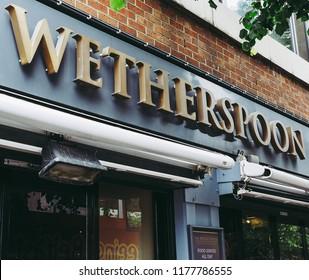 BELFAST, UK - CIRCA JUNE 2018: Wetherspoon public house