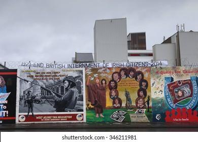 Belfast,Northern Ireland-5th November:  political republican mural in Northumberland Street.Belfast,Northern Ireland,UK on 5th November 2014