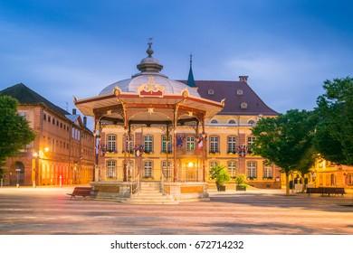 Belfort Market Square at Night, France