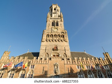 The Belfry of Bruges is a medieval bell tower in the historical centre of Bruges, Belgium.