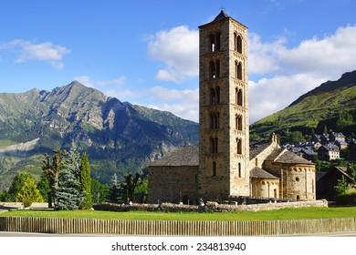 Belfry and church of Sant Climent de Taull, Catalonia, Spain.
