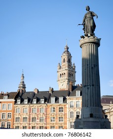 belfry on the main square of Lille, France