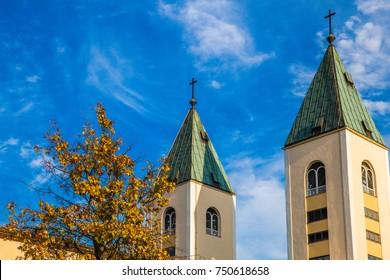 belfry of Saint James Church in Medjugorje