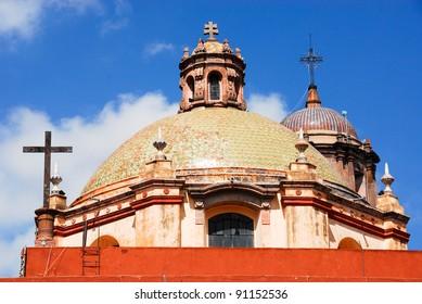 Belfry of San Franscico church, Queretaro (Mexico)