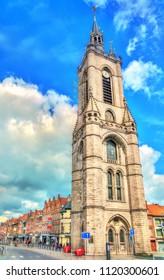 The Belfry of Tournai, a UNESCO world heritage site in Belgium, Europe