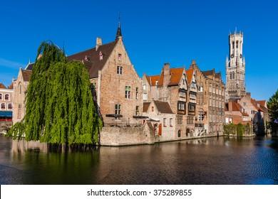 Belfry tower in Bruges, Belgium