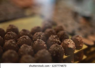 belgian chokolate in the shopwindow