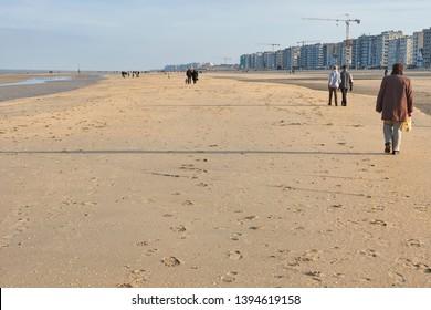 Belgian coast in winter time
