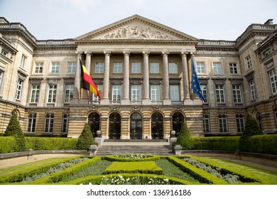 The Belgian Federal Parliament sits in the Palace of the Nation in Brussels - Belgium