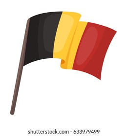 The Belgian flag.The dark Belgian wolf. Belgium single icon in cartoon style rater,bitmap symbol stock illustration.