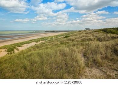 Belgian North Sea beach and dunes between Blankenberge and De Haan