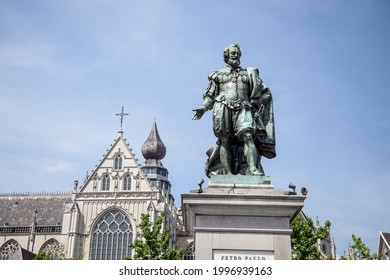 Belgium 15 jun 2021:Petro Paulo Statue and building was openning to visited.