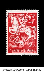 BELGIUM, CIRCA 1939 - Post stamp in memory of the anti-zazism resistance circa 1939 in Belgium