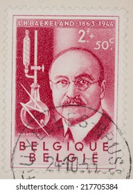 BELGIUM - CIRCA 1955: A Cancelled postage stamp from Belgium illustrating Inventors, issued in 1955.