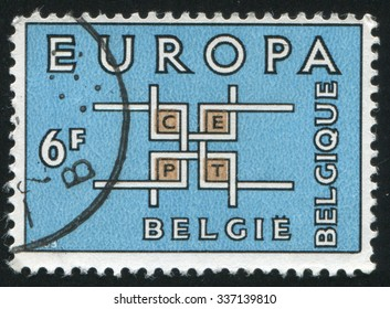 BELGIUM - CIRCA 1963: stamp printed by Belgium, shows emblem Europe, circa 1963