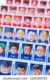 Belgium, circa 2016 - all kinds of men and women in the 'Guess Who' board game