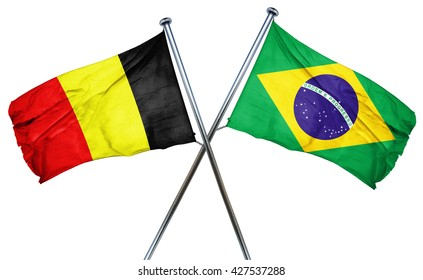 Belgium flag  combined with brazil flag