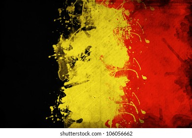 Belgium flag, image is overlaying a detailed grungy texture
