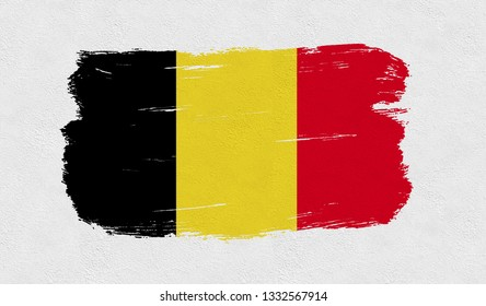 Belgium flag on the wall - Image