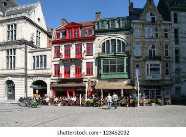 Belgium, Ghent, historic buildings in the city center