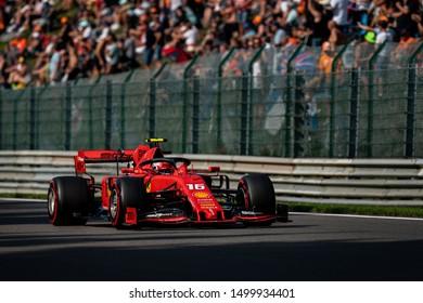 BELGIUM - Spa-Francorchamps, Belgium Grand Prix 2019 Formula 1 , Ferrari driver Charles Leclerc