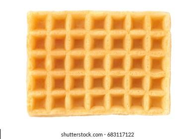 Belgium waffles isolated on white background.