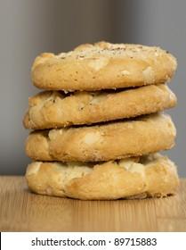 Belgium White Chocolate Cookie Stack