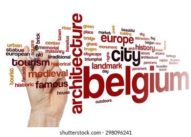 Belgium word cloud